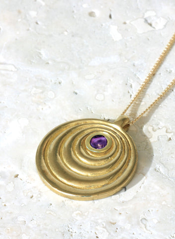 february amethyst birthstone necklace gold