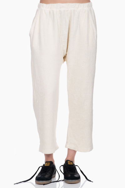The Great The Micro Terry Pajama Sweatpant white