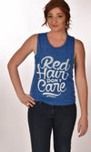 Red Hair Don't Care Swirl Flowy Scoop Marble Tank Ginger Problems
