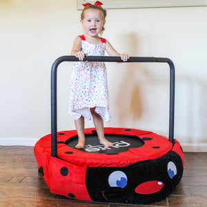 Pure Fun 36-inch Ladybug Plush Jumper Kids Trampoline with Handrail - Pure Fun
