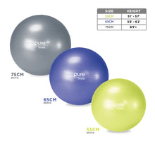 Load image into Gallery viewer, Pure Fitness Professional Anti-burst Exercise Stability Ball - Pure Fun
