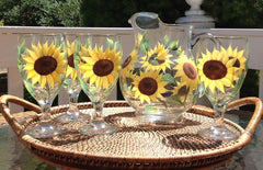 Sunflowers 5-Piece Hostess Set
