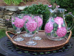 Pink Hydrangea 5-Piece Hostess Set