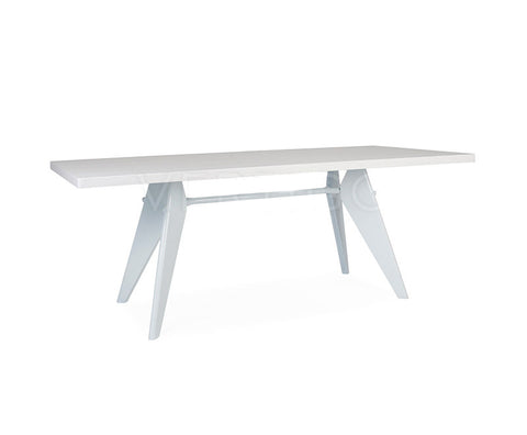 "Prouvey Style Table Rectangle 74"" White"
