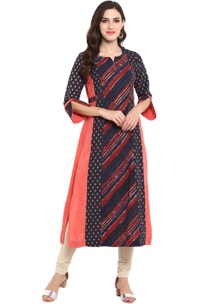 THREE PANEL LONG KURTA - EK DO TEEN