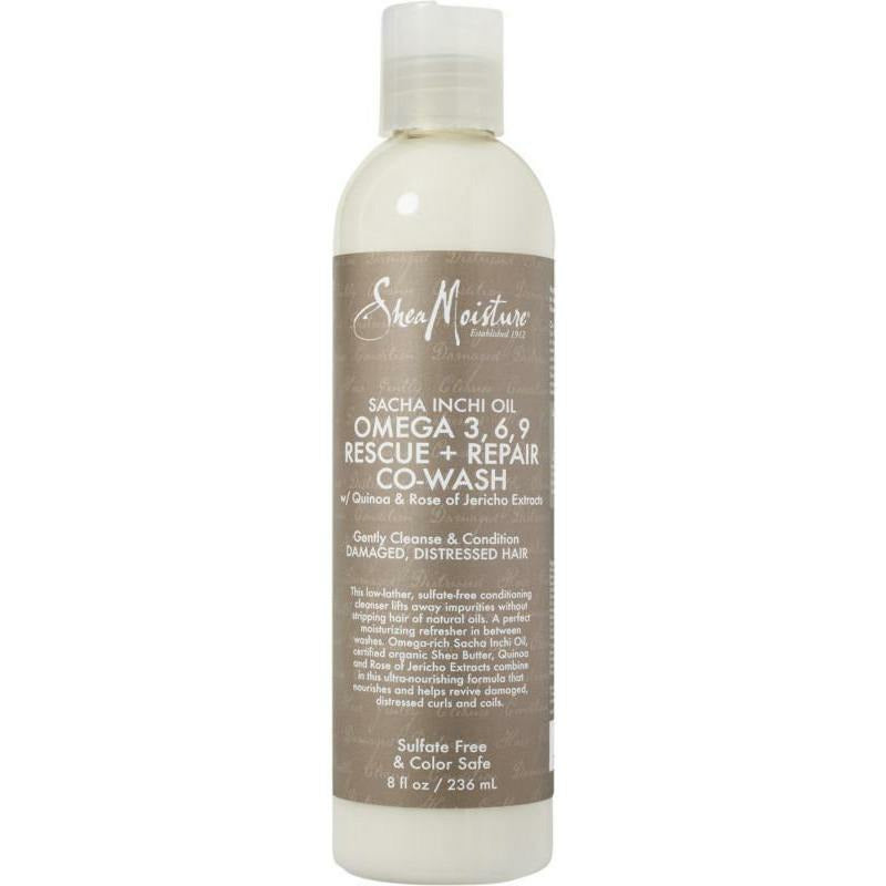 Shea Moisture Hair Care Shea Moisture: Sacha Inchi Oil Omega 3, 6, 9  Rescue + Repair Co-Wash 8oz
