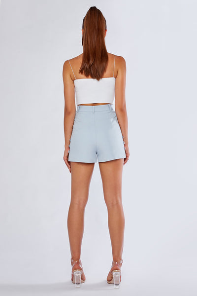 Charlize Tailored Shorts - Sky Blue - MESHKI