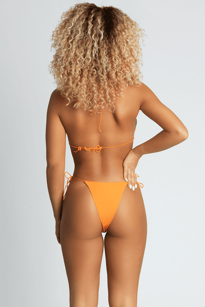 Amalia Tie Up Bikini Top - Neon Orange - MESHKI