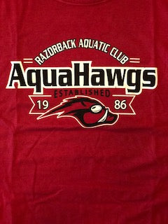 Red AquaHawg Team Short Sleeve T