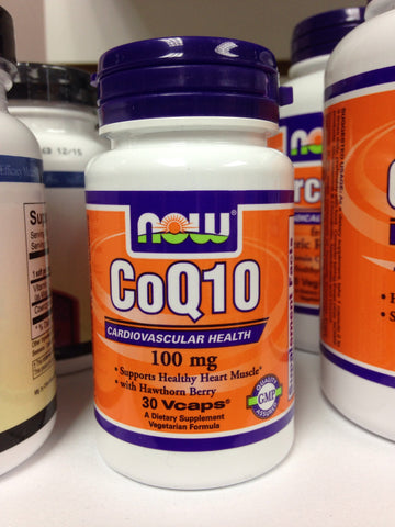 CoQ10 100mg #30 Caps NOW Brand