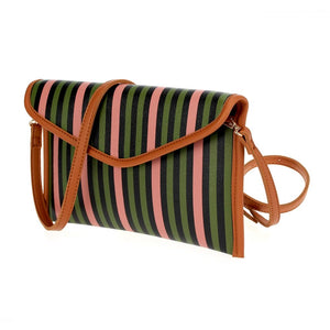 Multi Stripe Envelope Clutch