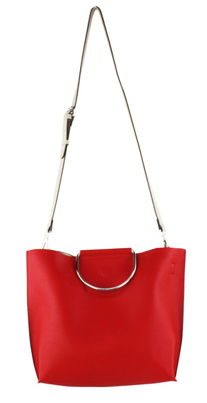 METAL RINGS REVERSIBLE TOTE