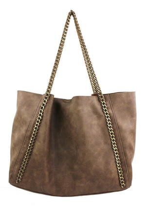 WIDE BODY CHAIN TOTE