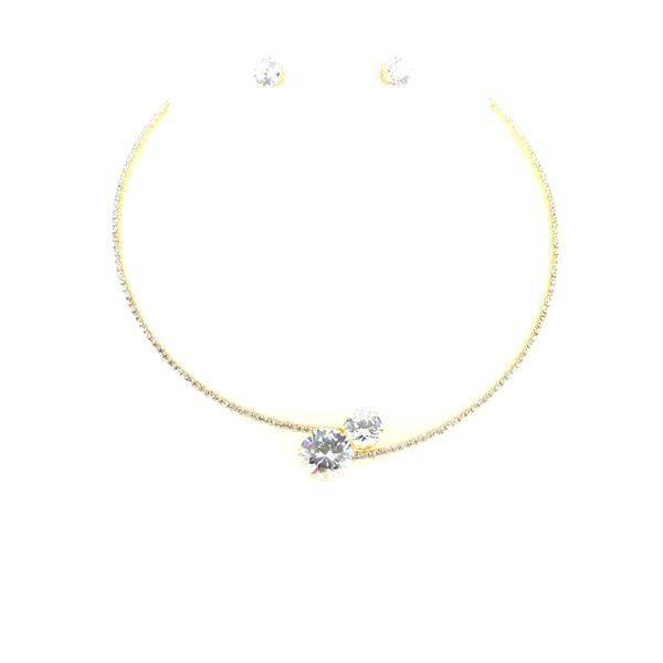 Solitaires Wrap Necklace