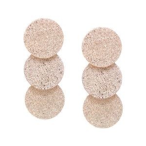 Triple Disc Sparkle Stmt Earrings