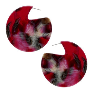 Artist Print Enamel Disc Earrings