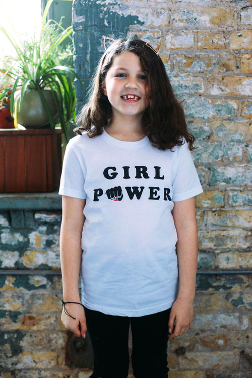 Girl Power Kids White T-shirt