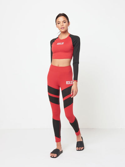 Reckless Girls Womens - Activewear - Tops Joni Sports Bra- Red