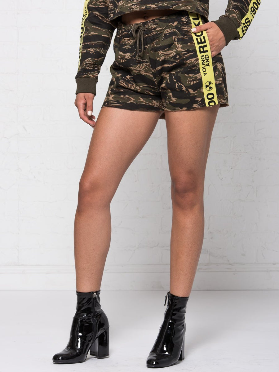 Invincible Jr. Shorts - Tiger Camo