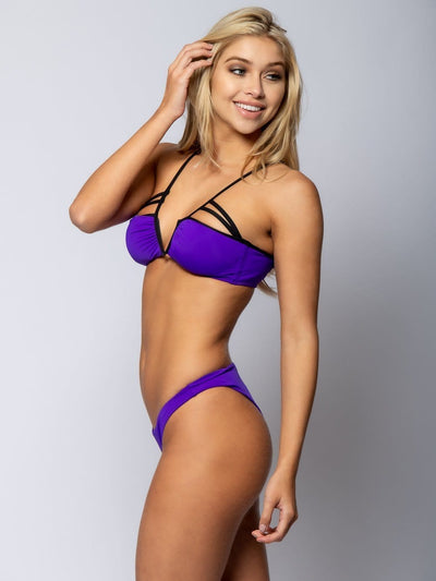 Reckless Girls Womens - Swimwear - Bikini Veronique Tie Back Bikini Top - Purple