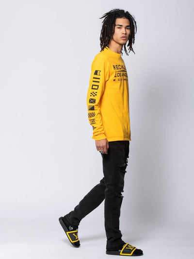Young and Reckless Mens - Tees - Long Sleeve Admiral Long Sleeve Tee - Gold S / GOLD