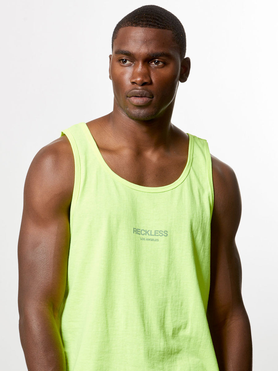 Bravo Tank Top- Safety Green