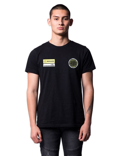 Young and Reckless Mens - Tops - Graphic Tee Build Your Empire Tee - Black