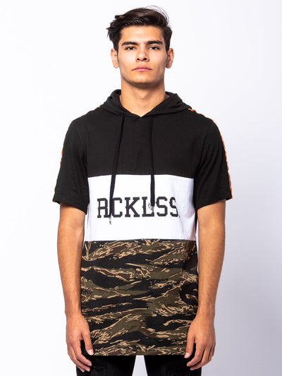 Young and Reckless Mens - Tops - Hoodies Lane Change Unify Hoodie - Camo Green/Black