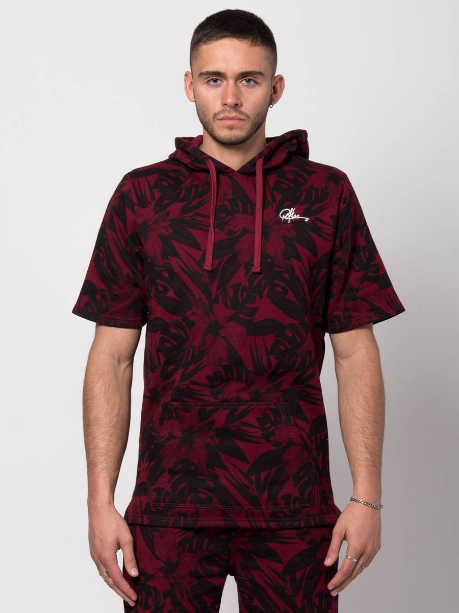 Young and Reckless Mens - Tops - Hoodies Topiary S/S Hoodie - Burgundy