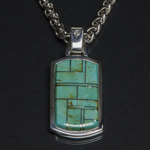 Turquoise Inlay Dogtag