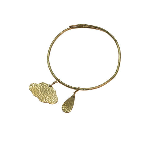 Hammered Brass Cloud Bangle