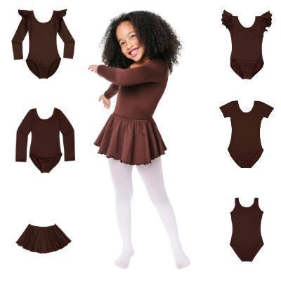 Brown leotards for girls and toddlers