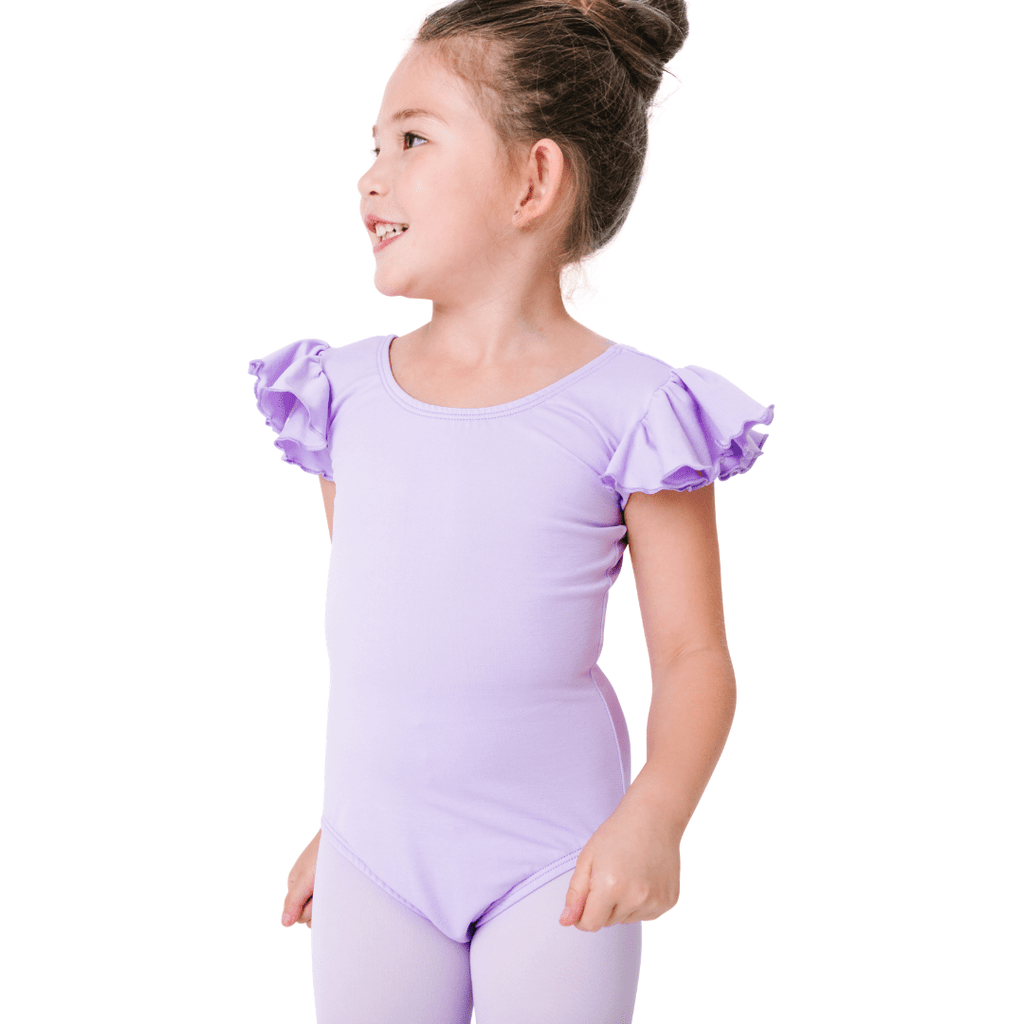 Ruffle Short Sleeve Leotards