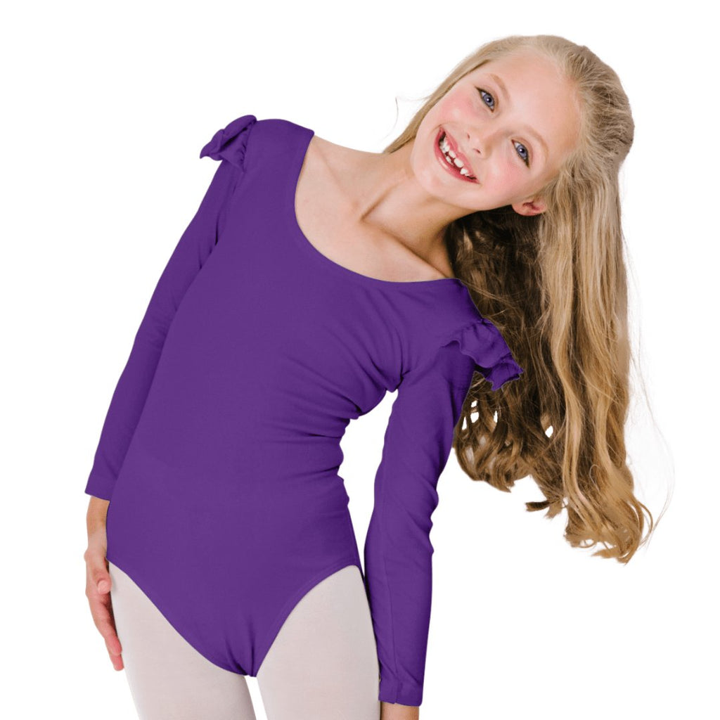 Ruffle Long Sleeve Leotard