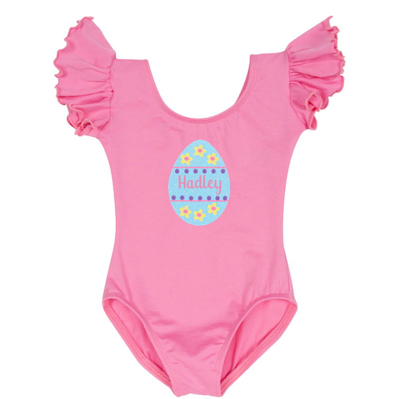 Easter Egg Personalized Leotard - Pink