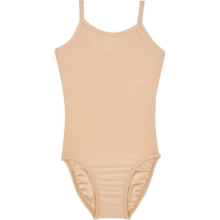 Nude Beige Tank Camisole Leotard for Toddler and Girls