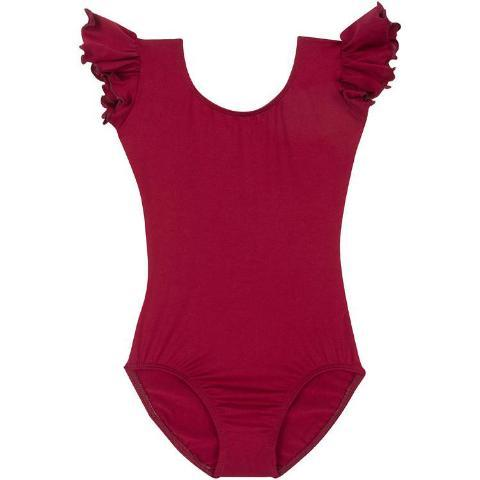 Burgundy Maroon Dark Red Leotard