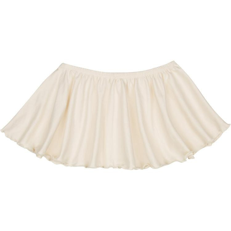 Ivory Cream Ruffle Dance Skirt for Girls