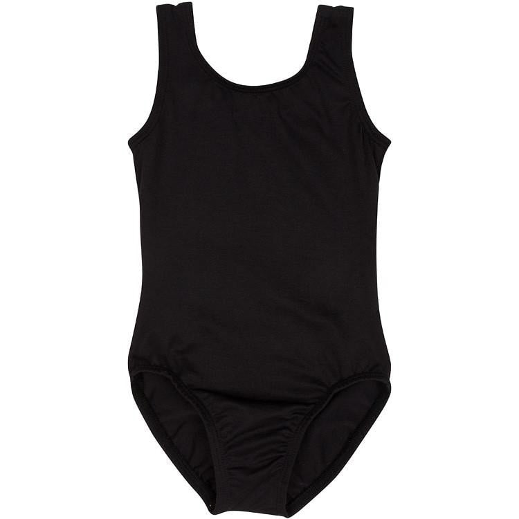 Black Tank Leotard for Toddler and Girls
