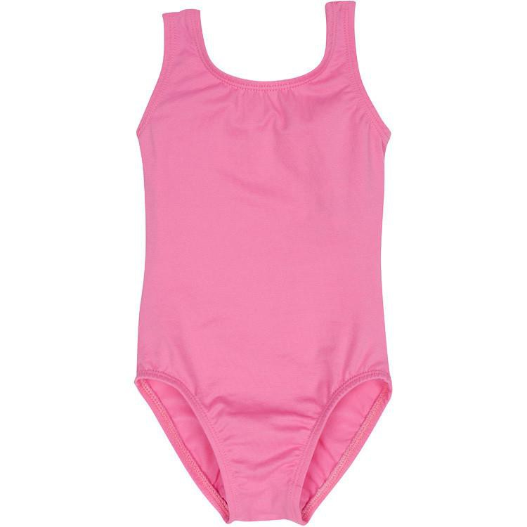 Bright Pink Tank Leotard for Toddler and Girls