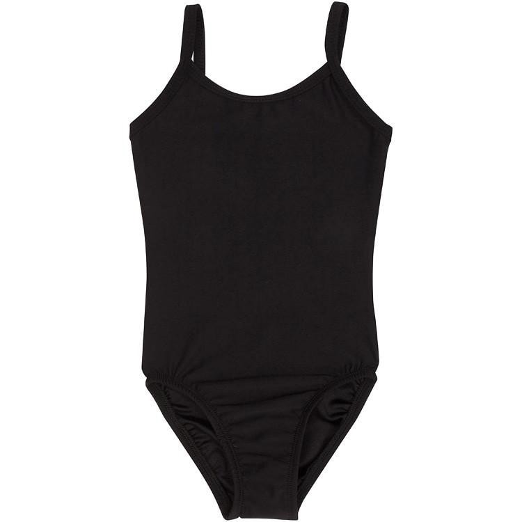 Black Camisole Leotard for Toddler and Girls