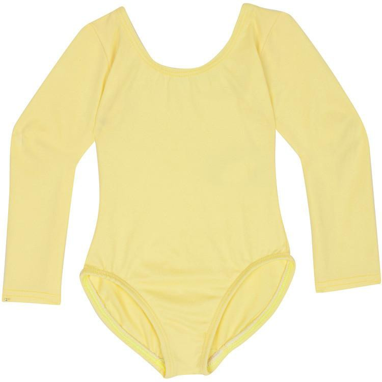 Yellow Long Sleeve Leotard for Toddler and Girls