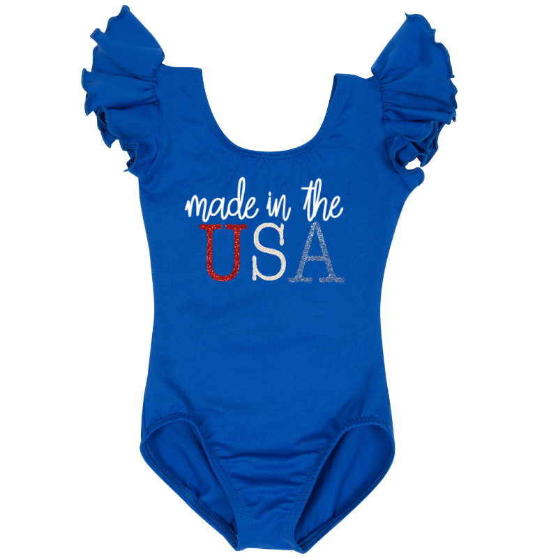 Customized Leotard Made in the USA Writing
