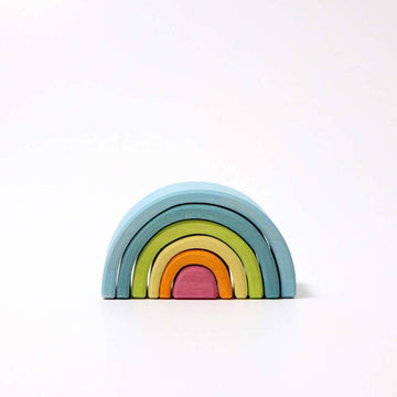 Grimm's Wooden Rainbow Stacker - -10761 - Small Mini Pastel Tunnel - Oompa Toys