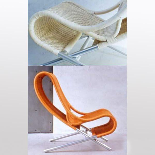 Outdoor Furniture - Easy Chair - Orange