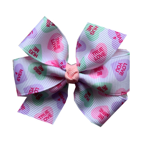 Medium Conversation Heart Hair Bow