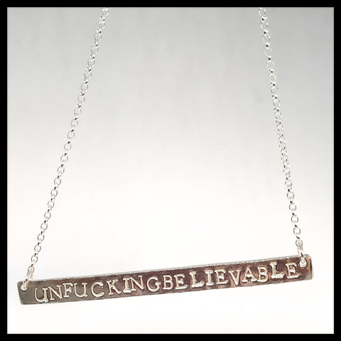 Sweary Necklace - unfuckingbelievable - Glitter & Mud