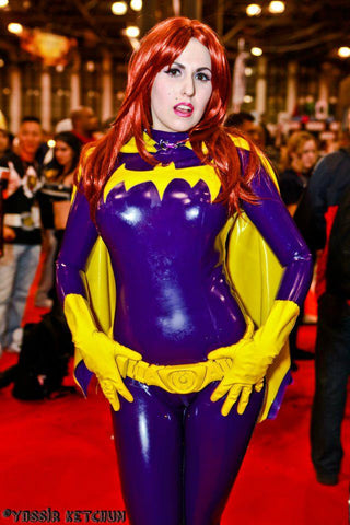 Latex Cosplay: Batgirl inspired costume