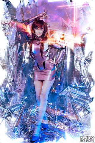 Latex Cosplay:  Mari Illustrious Makinami - inspired dress from Neon Genesis Evangelion