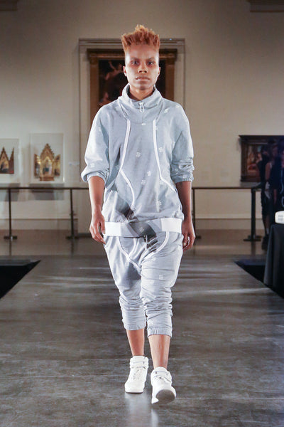 Aluminum Underpants Crew with FONY Squiggle Textile - Jacket - STREETWEAR - NYC - MOVES